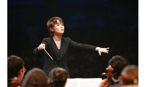 Han-Na Chang conducting the Qatar Philharmonic Orchestra (photo courtesy: QPO)